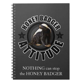 Honey Badger ATTITUDE - Round Design Notebook