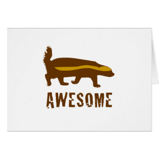 Honey Badger Awesome Card