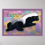 Honey Badger Baby Poster