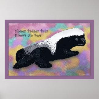 Honey Badger Baby Poster -60x40 -or smaller
