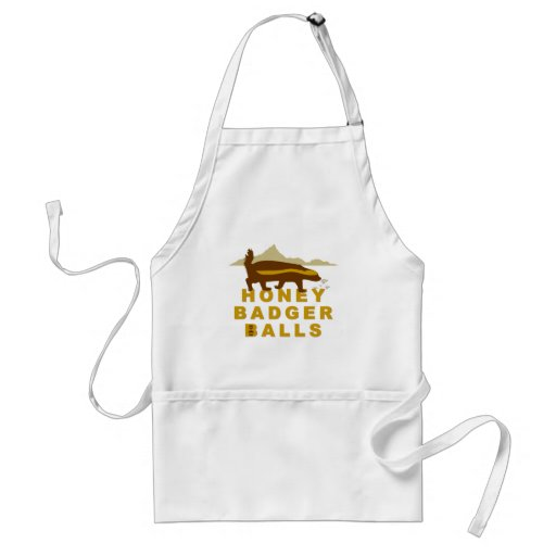 Honey Badger Balls Apron