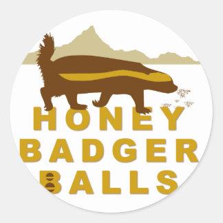 Honey Badger Balls Classic Round Sticker