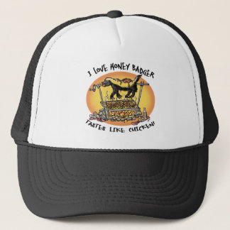 Honey Badger BBQ Trucker Hat