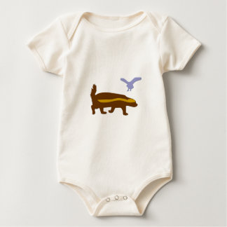 Honey Badger Bird Baby Bodysuit