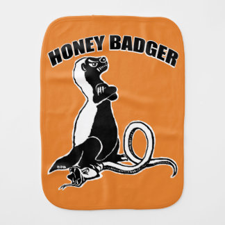 Honey badger burp cloth