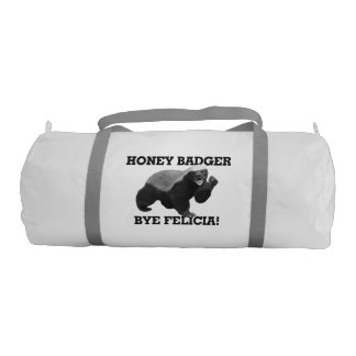 Honey Badger Bye Felicia Gym Duffel Bag