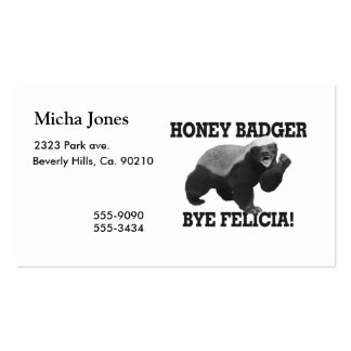 Honey Badger Bye Felicia Pack Of Standard Business Cards