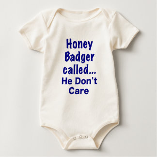 Honey Badger Called... He Dont Care Baby Creeper