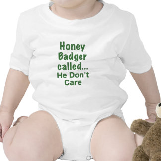 Honey Badger Called... He Dont Care Baby Bodysuits