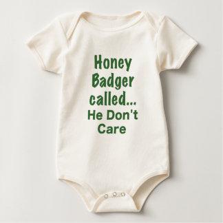 Honey Badger Called... He Dont Care Baby Bodysuit