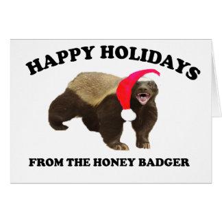 Honey Badger Christmas Card