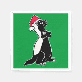 Honey badger Christmas Disposable Napkin