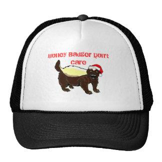 Honey Badger Christmas hat