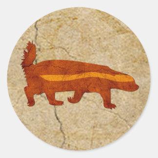 Honey Badger Classic Round Sticker