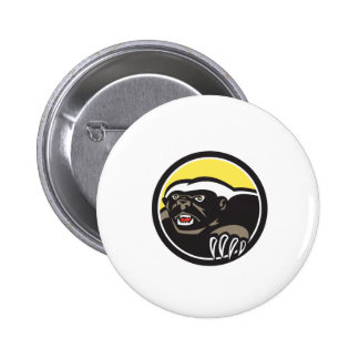 Honey Badger Claws Side Circle Retro 6 Cm Round Badge