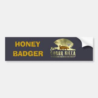 Honey Badger Cobra Killa Bumper Sticker