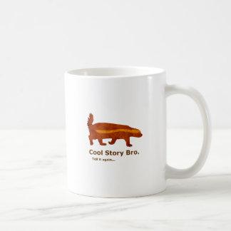Honey Badger - Cool Story Bro. Tell it again... Basic White Mug