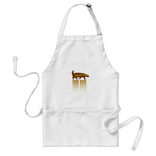 Honey Badger Corn Dogs Apron