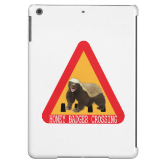 Honey Badger Crossing Sign - White Background iPad Air Case