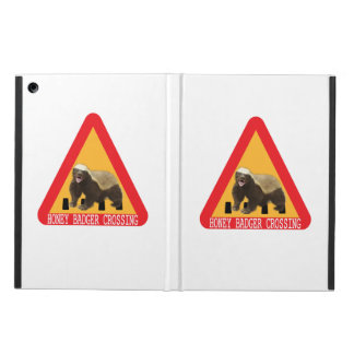 Honey Badger Crossing Sign - White Background iPad Air Cases