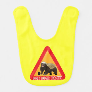 Honey Badger Crossing Sign - Yellow Background Bib