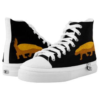 HONEY BADGER Custom Zipz High Top Shoes Printed Shoes