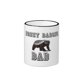 Honey Badger Dad Ringer Coffee Mug