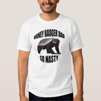 HONEY BADGER DAD SO NASTY T-SHIRTS