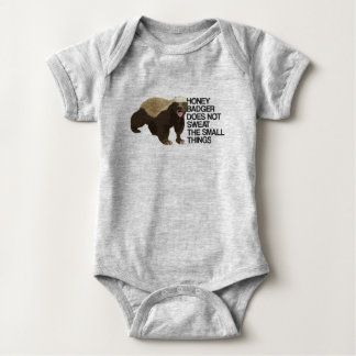 Honey Badger Does Not Sweat The Small Things Baby Bodysuit