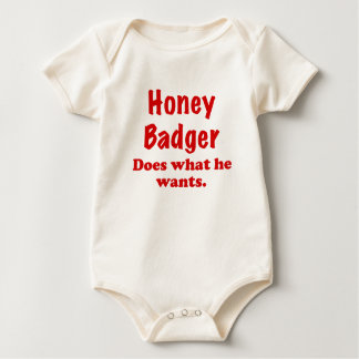 Honey Badger Does What He Wants Romper