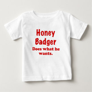Honey Badger Does What He Wants Shirts