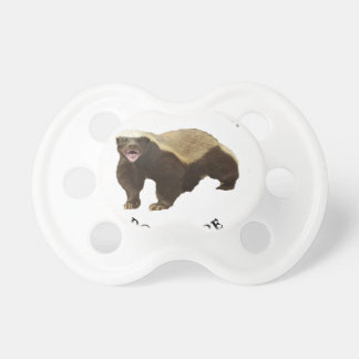 Honey Badger Don t Care logo Baby Pacifiers
