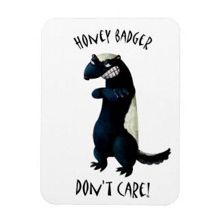 Honey Badger don t care Rectangle Magnet