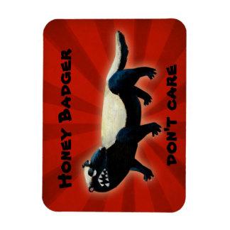 Honey Badger don t care Rectangle Magnets