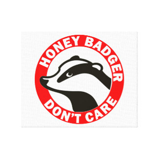 Honey Badger Don t Care Stretched Canvas Print