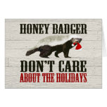 Honey Badger Don't Care about the Holidays Cards