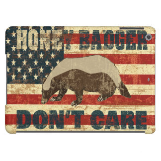 Honey Badger Dont Care American Flag iPad Air Case