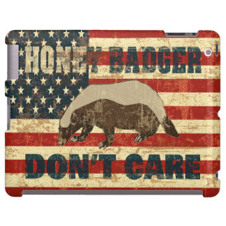Honey Badger Dont Care American Flag