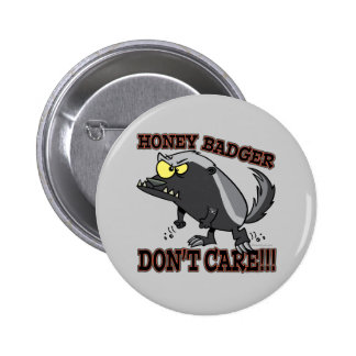 HONEY BADGER DONT CARE FUNNY CARTOON BUTTONS