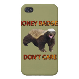 Honey Badger Don't Care, Funny, Cool, Nasty Animal iPhone 4/4S Cases