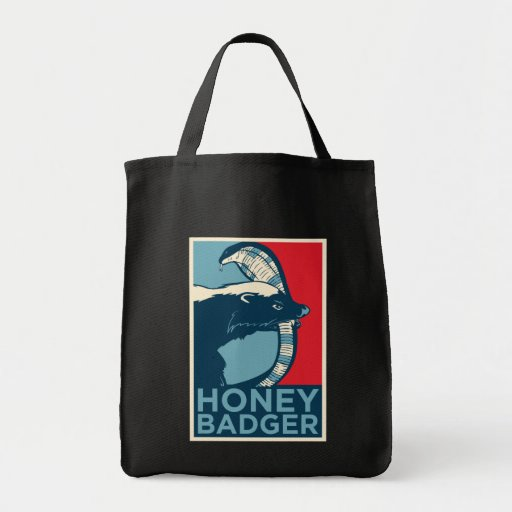 honey badger don't care grocery tote bag