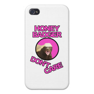 Honey Badger Don't Care iPhone 4 Cover