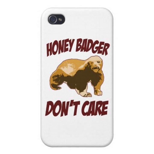 Honey Badger Don't Care iPhone 4/4S Case