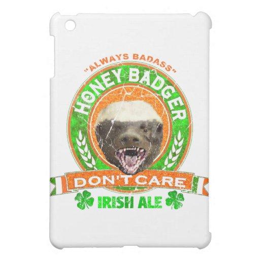 Honey Badger Don't Care Irish Ale Label iPad Mini Covers