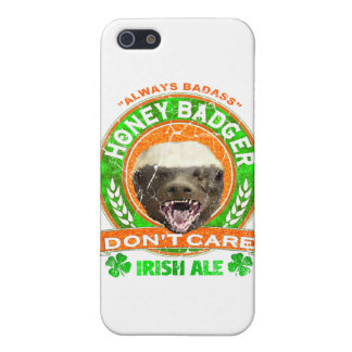 Honey Badger Don't Care Irish Ale Label iPhone 5 Covers