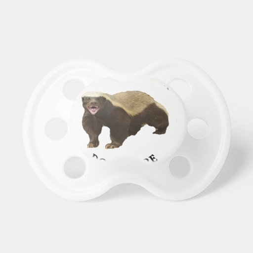 Honey Badger Don't Care logo Baby Pacifiers