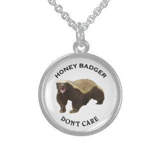 Honey Badger Don't Care logo Necklaces