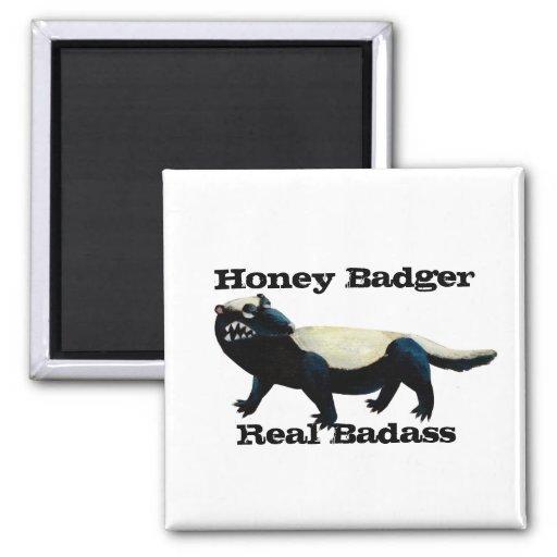 Honey Badger  don't care! Fridge Magnets