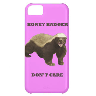Honey Badger Don't Care On Bubblegum Pink Pattern iPhone 5C Covers