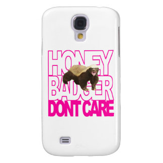 Honey Badger Don't Care Pink Galaxy S4 Case